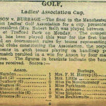 March 1911 - Bell Cup -Anson vs Burbage