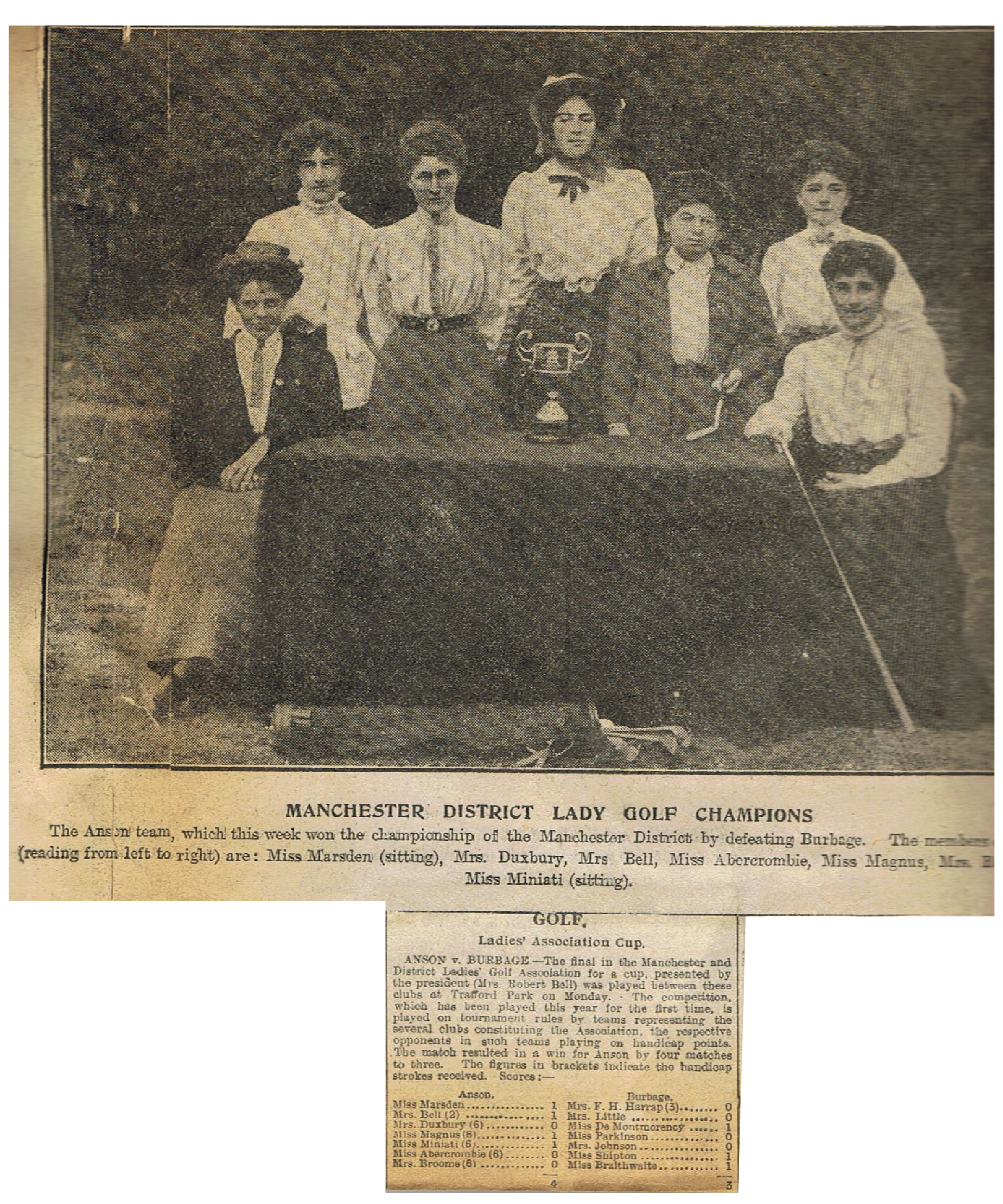 March 1911 Bell Cup Winners - Anson
